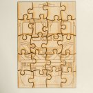 Metra Mp36 Laser engraved and cut wooden puzzle