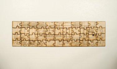 Metra EMD F40 Laser engraved wooden puzzle