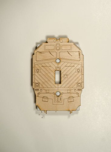 Metra EMD F40 Laser engraved and cut Switch plate cover