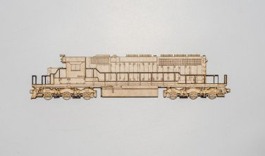 SD40-2 Laser cut layered wooden railroad magnet