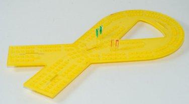Laser Engraved and Cut Ribbon Cribbage board