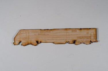 Amtrak #66 GE P42 Laser engraved and cut Wood Magnet