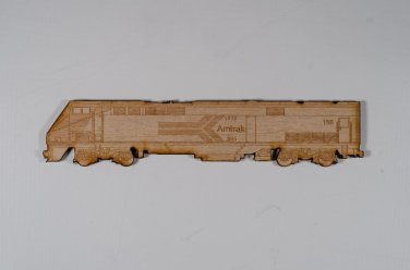 Amtrak #156 GE P42 Laser engraved and cut Wood Magnet