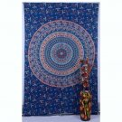 Indian Peacock Mandala Wall Hanging Hippie Beach Blanket Ethnic Decor Tapestry