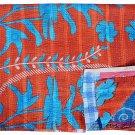 IndianTwin Kantha Vintage Cotton Quilt Bedding Throw Blanket Reversible Gudari