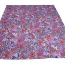 NEW INDIAN GUDARI KANTHA QUEEN COTTON BEDSPREAD HAND MADE THROW GUDARI DECOR ART
