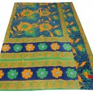 INDIAN VINTAGE TWIN GUDARI KANTHA QUILT COTTON THROW BEDDING BEDSPREAD BLANKET