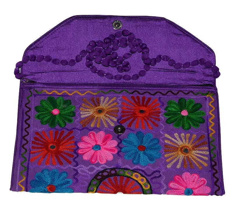 INDIAN NEW NICE MULTI COLOR BAG WEDDING STYLE CLUTCH HAND BEADED HANDMADE PURSE