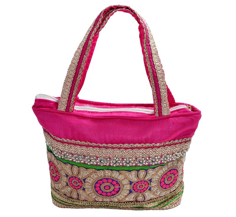 Indian Beautiful Fancy  Wedding Hand bag Mughal style Party embroidered Bag Art