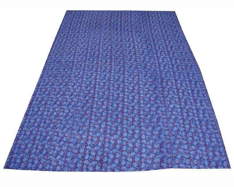 Blue Kantha Quilt Indian Handmade Bedspread Throw Blanket Cotton Ethnic Gudari