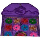 INDIAN NICE NEW BAG WEDDING STYLE CLUTCH HAND BEADED MULTI COLOR HANDMADE PURSE