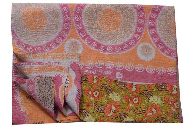 Kantha Vintage Handmade Quilt Bedding Cotton Reversible Blanket Throw Gudari2899