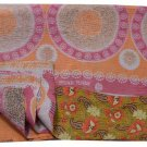 Kantha Vintage Handmade Quilt Bedding Cotton Reversible Blanket Throw Gudari2899
