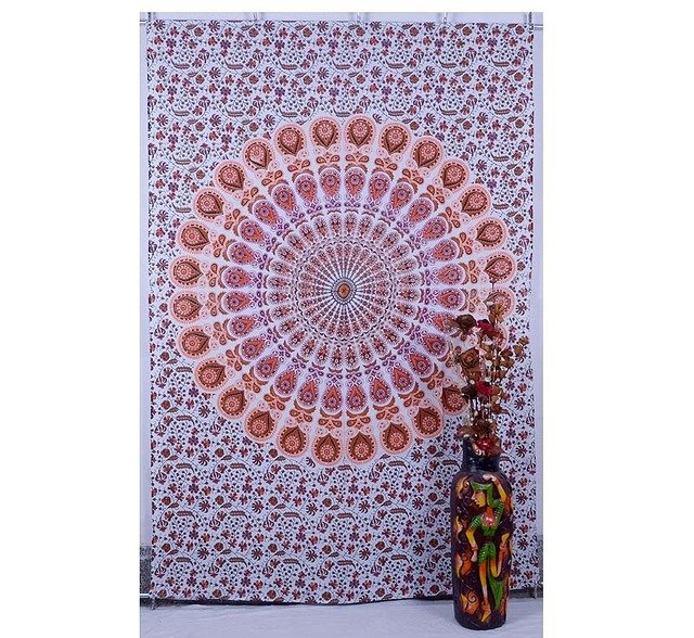 Indian New Floral Mandala Tapestry Hippie Wall Hanging Beach Home Decor Ethnic