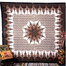 QUEEN MULTI INDIAN MANDALA BEDSPREAD WALL HANGING TAPESTRYHome Decor Blanket