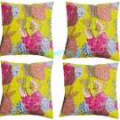 "16"" Indian Handmade Traditional Kantha Cushion Cover Ethnic Home Decor -2927"