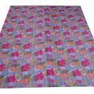 Indian Kantha Throw Bedspread Bedding Reversible Blanket Quilt Floral Gudari