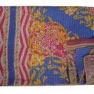 KANTHA QUILT REVERSIBLE VINTAGE BEDDING BEDSPREAD THROW BLANKET GUDARI HANDMADE