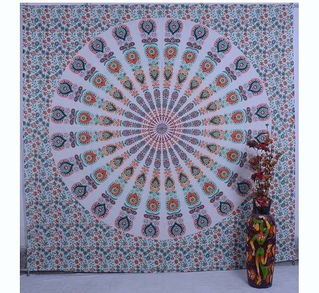 Indian Mandala Bedspread Bohemian Handmade Hippie Throw Wall Hanging Tapestry