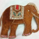 Hand-Beaded Appliques. 2 Brilliant Elephants Indian Appliques Sew On Patch Badge
