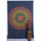 Twin Indian Nice Peacock Mandala Hippie Wall Hanging Bedspread Curtain Tapestry