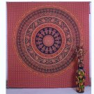 Indian Handmade Red Mandala Bedspread Bohemian Wall Hanging Tapestry Throw{90X78