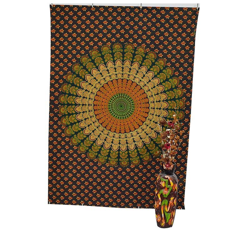 Indian Twin Mandala Boho Hippe Bedseet Wall Hanging Tapestry Table cover Decor