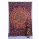 Peacock Mandala Hippie Indian Hip Hop Wall Hanging Twin Tapestry Bedspread Decor