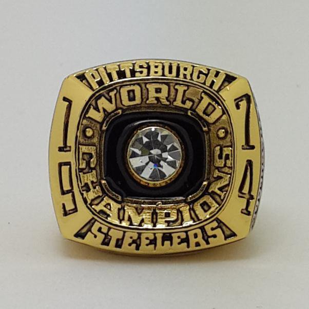 1974 Pittsburgh Steelers IX Super bowl championship ring size 11 Back Solid