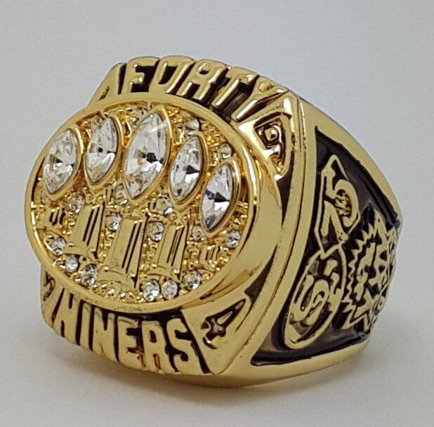 1994 San Francisco 49ERS XXIX Super bowl championship ring size 11 Back Solid