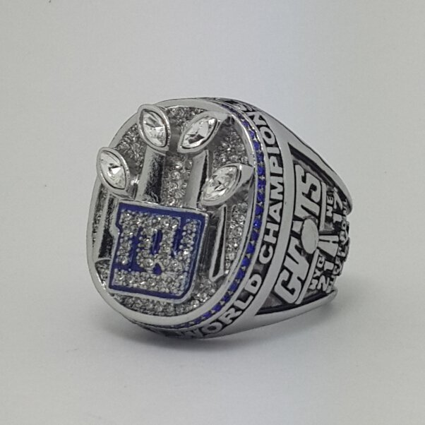 2011 New York Giants XLVI Super bowl championship ring size 11 Back Solid