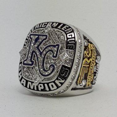 2014 2015 Kansas City Royals MLB championship ring AL American League baseball size 9-14 Back Solid