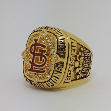 St Louis Cardinals 2006 world series championship ring ECKSTEIN baseball size 9-13 Back Solid