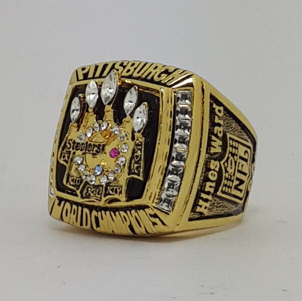 2005 Pittsburgh Steelers XL Super bowl championship ring size 11 Back Solid