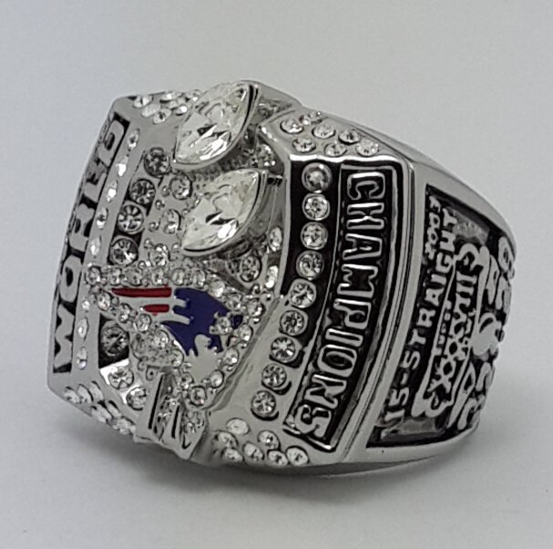 2003 New England Patriots XXXVIII Super bowl championship ring KRAFT size 11 Back Solid