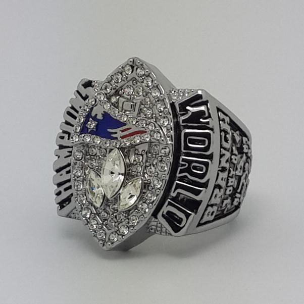 2004 New England Patriots XXXIX Super bowl championship ring BRANCH size 11 Back Solid