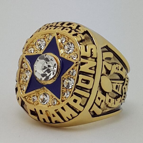 1971 Dallas Cowboys VI Super bowl championship ring STAUBACH size 11 Back Solid