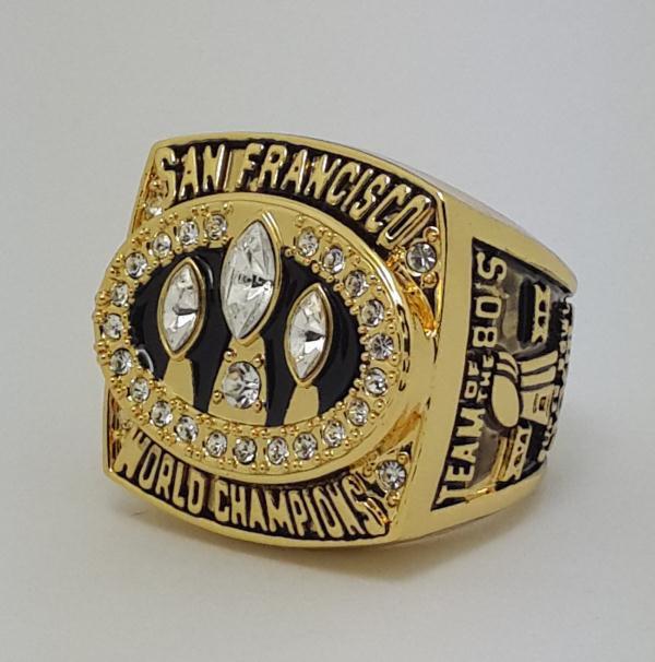 1988 San Francisco 49ERS XXIII Super bowl championship ring MONTANA size 11 Back Solid