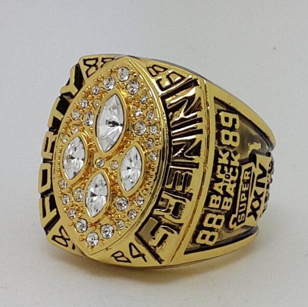 1989 San Francisco 49ERS XXIV Super bowl championship ring MONTANA size 11 Back Solid