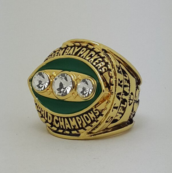 1967 Green Bay Packers II Super bowl championship ring STARR size 11 Back Solid