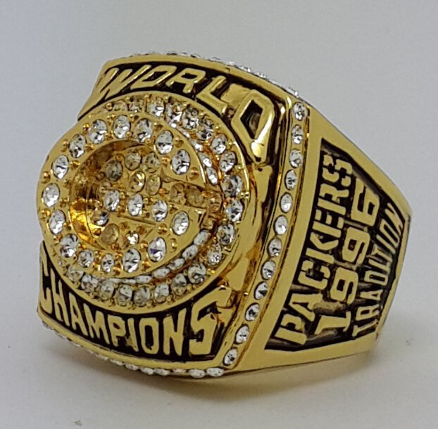 1996 Green Bay Packers XXXI Super bowl championship ring FAVRE size 11 Back Solid