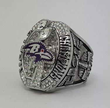 2012 Baltimore Ravens XLVII Super bowl championship ring FLACCO size 11 Back Solid