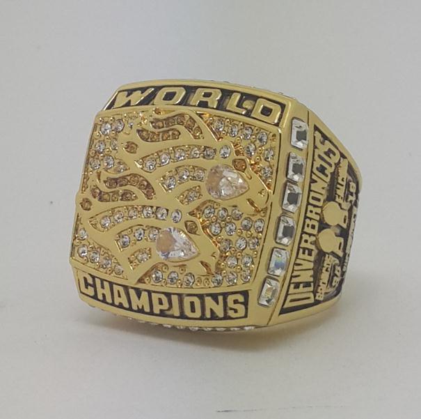 1998 Denver Broncos XXXIII Super bowl championship ring ELWAY size 11 Back Solid