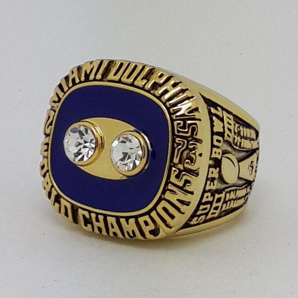 1973 Miami Dolphins VIII Super bowl championship ring CSONKA size 11 Back Solid