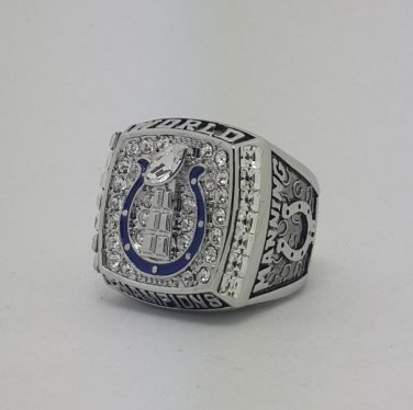 2006 Indianapolis Colts XLI Super bowl championship ring MANNING size 11 Back Solid