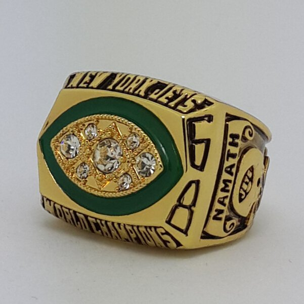 1968 New York Jets III Super bowl championship ring NAMATH size 11 Back Solid