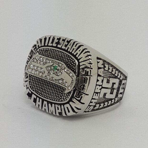 2014 Seattle Seahawks NFC super bowl championship ring size 9-14 Back Solid