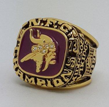 1973 Minnesota Vikings NFC super bowl championship ring size 11