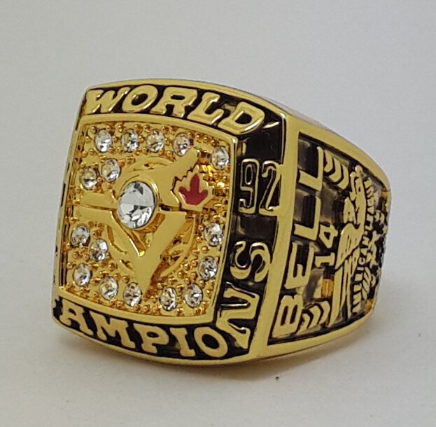 1992 Toronto Blue Jays world series championship ring BELL baseball MLB size 11 Back Solid