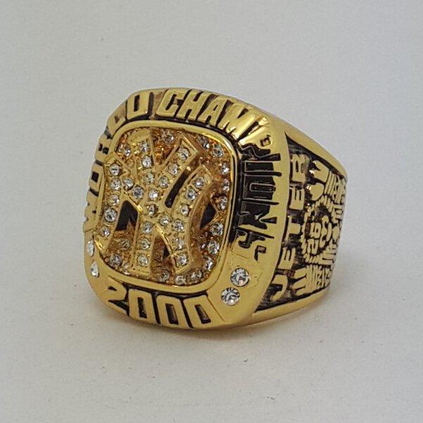 New York Yankees 2000 world series championship ring JETER baseball size 11 Back Solid